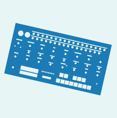 Blue Overlay For The Behringer Crave Modular Synth (by Novalays) • 7.99£