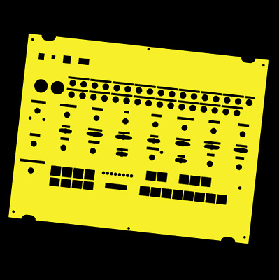 Yellow Full-wrap Overlay For The Behringer Crave Modular Synth (by Novalays) • 8.99£