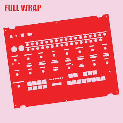 Red Full-wrap Overlay For The Behringer Crave Modular Synth (by Novalays) • 8.99£