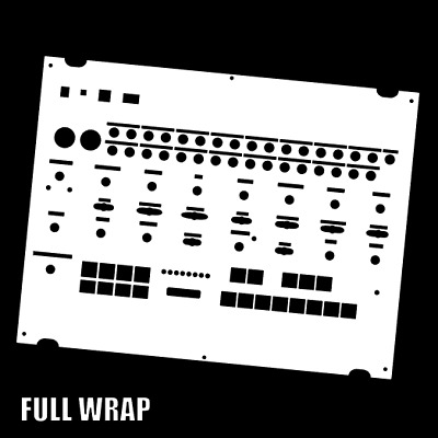 White Full-wrap Overlay For The Behringer Crave Modular Synth (by Novalays) • 7.99£