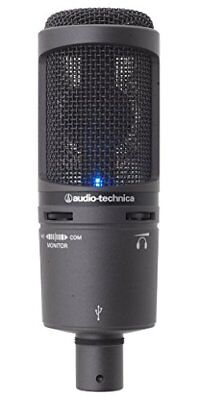 Audio-Technica Back Electret Condenser Type USB Microphone AT2020USB+ New • 186.54£