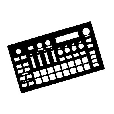 White Overlay Card For The Roland MC101 Groovebox (byNovalays) • 6.99£
