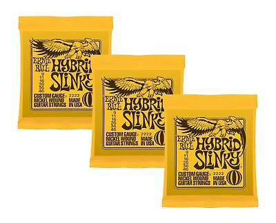 Ernie Ball Hybrid Slinky Nickel Wound Sets.009 - .046, Bundle Of 3 Sets • 41.83£