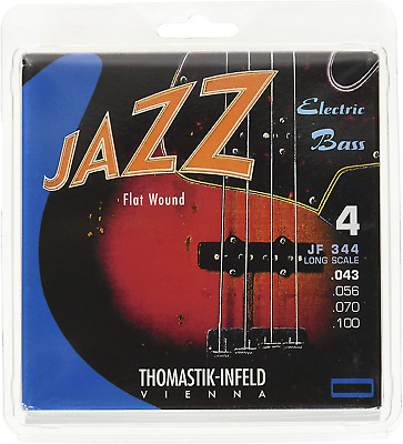 Thomastik Strings For Electric Bass Jazz Bass Flat Wound Set JF344 4-String Long • 66.61£