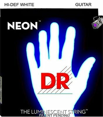 DR NWE-9 Neon Hi-Def White Electric strings 9-42