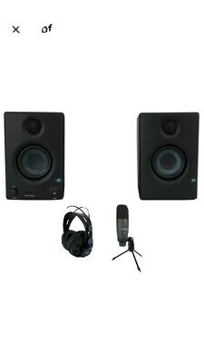 PRESONUS AudioBox 96 Studio Ultimate Black Interface+Headphones+Mic+Monitors • 162.81£
