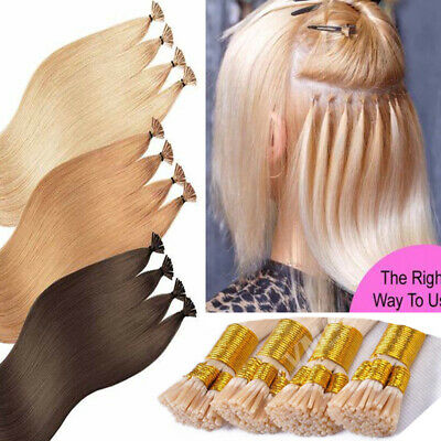 Fusion 1G/0.5G Stick I Tip Human Remy Hair Extensions Full Head Micro Bead THICK • 95.84£