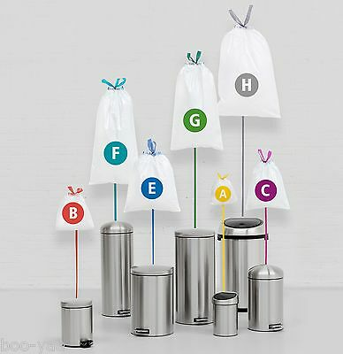 Brabantia Trash Bag 140 Pieces Bags, Garbage Code A B C D E For G H L Q K • 49.64£