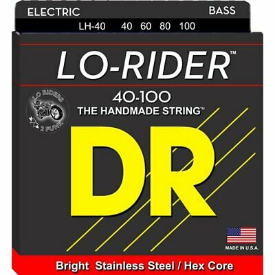 DR LH-40 'Lo-Rider' Stainless Steel 4-String Bass strings 40-100