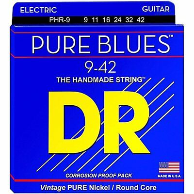 DR PHR-9 'Pure Blues' nickel Electric strings 9-42