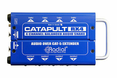 Radial Engineering Catapult RX4 | Cat 5 Snake For Audio/AES Routing (Receiver) • 100.35£