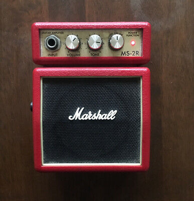 Marshall MS-2R Micro Amplifier - Red - Used • 6£