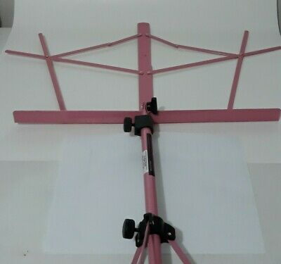 Pink  On-Stage SM7122PKB  Folding Tripod Sheet Music Stand With Black Carry Bag • 9.20£