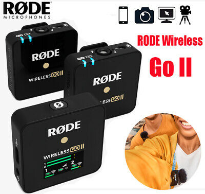 RODE Wireless Go II Compact Lavalier Dual Microphone Wireless System For Camera • 359£