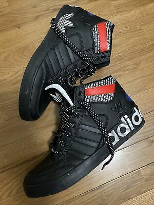 Adidas EVH 791004 Blue Black Red High Top Athletic Shoe Sneaker Mens SIZE 10 • 56.53£