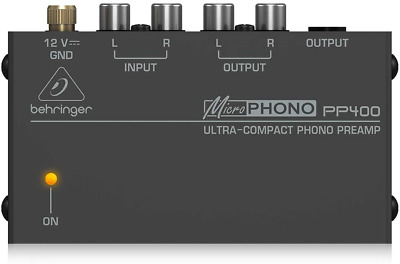 Behringer PP400 Microphono Ultra Compact Phono Preamp Assorted Colour • 25.57£