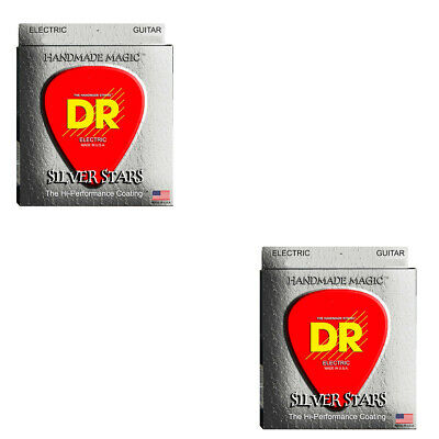 DR Guitar Strings Electric 2-Sets Silver Stars K3 High Performance Coated 10-46 • 15.79£