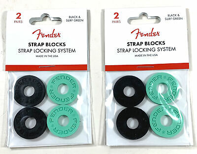 Fender Strap Blocks Strap Lock System Set Of 8 Easy Install Seafoam • 8.86£