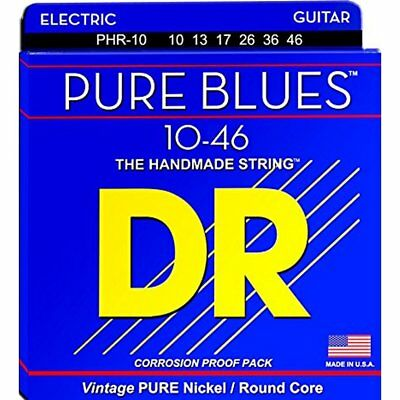 DR PHR-10 'Pure Blues' nickel Electric strings 10-46