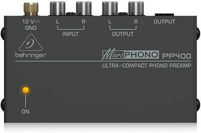Behringer PP400 Microphono Ultra Compact Phono Preamp Assorted Colour • 22.86£