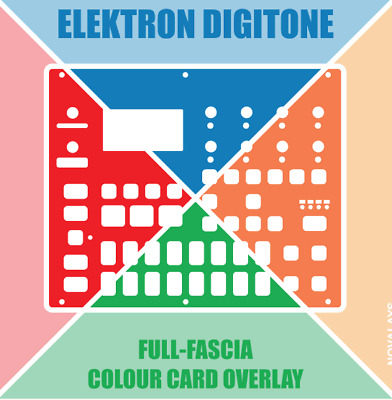 Colour fascia overlay / skin for the Elektron Digitone synth (by Novalays)