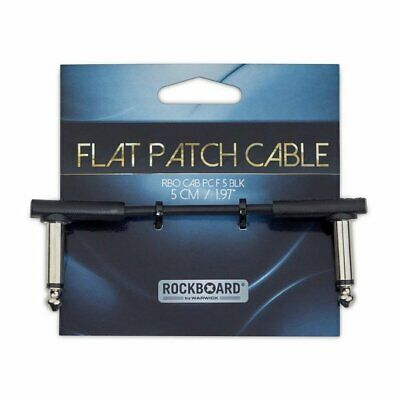 RockBoard Flat Patch Cable 5cm ang-ang, Black, RBO CAB PC F 5 BLK