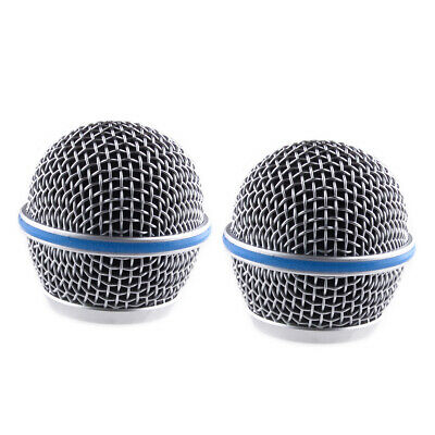 2x Microphone Grill Mic Grille Ball Head Mesh Fit For Shure Beta58A SM58 Durable • 5.75£