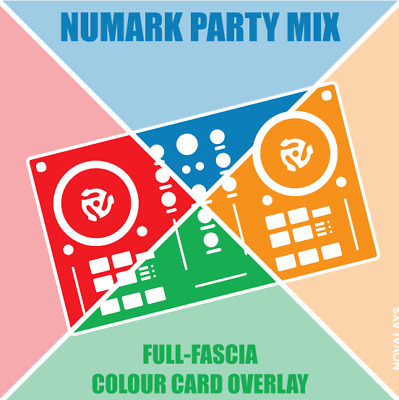 Full fascia card overlay for the Numark Party Mix DJ controller (by Novalays)