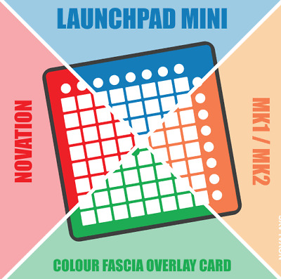 Card overlay for the Novation Launchpad Mini MK1 / MK2 (by Novalays)