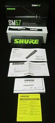 **BOX ONLY** Shure SM57 Cardioid Dynamic Microphone ORIGINAL OEM W/ Cable Tie • 10.85£