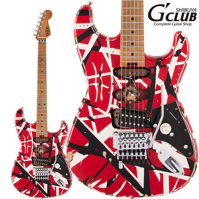 Evh We Are Accepting Reservations. Striped Series Frankie Maple Fingerboard -Red • 2,309.22£