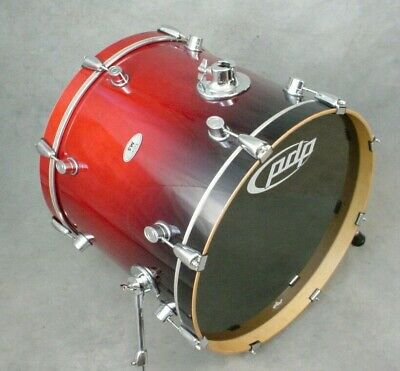 Pdp M5 Maple By Dw 18x22 Cherry Fade Lacquer Bass Drum, Excellent