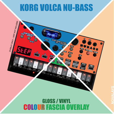 Colour fascia overlay for the Korg Volca Nu-Bass bassline synth (by Novalays)