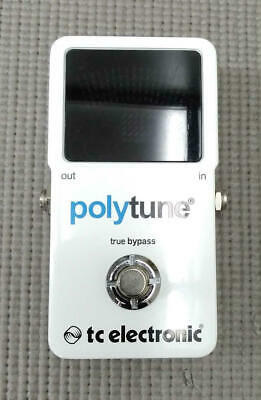 TC Electronic PolyTune Mini Polyphonic Tuning Pedal / white in Good condition