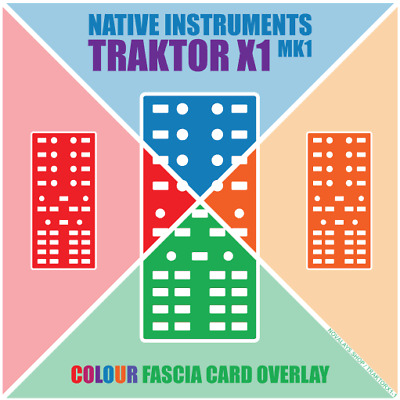 Colour fascia overlay for the Native Instruments Traktor X1 MK1 (by Novalays)
