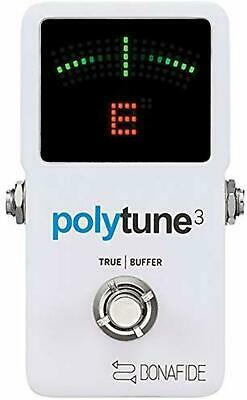 tc electronic PolyTune 3 Guitar Holistic Tuner Built-in Buffer F/S w/Tracking#