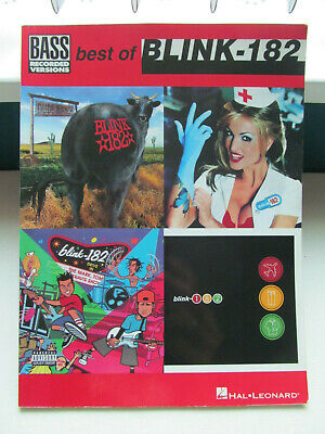 Best Of Blink-182. Sheet Music Song Book. Bass Guitar Tab Recorded Versions