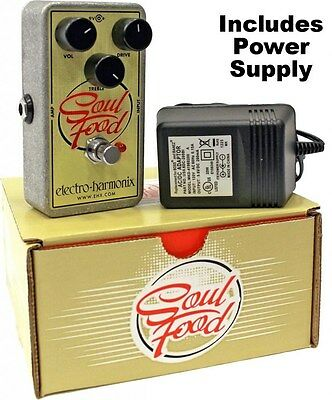 New Electro-Harmonix Soul Food Distortion Fuzz Overdrive Effects Pedal EHX • 66.57£