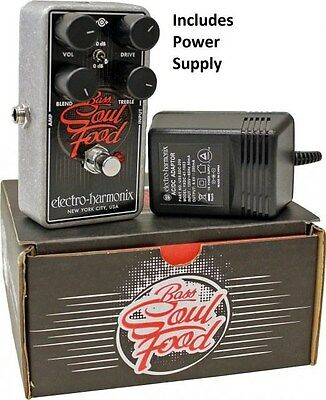 New Electro-Harmonix Bass Soul Food Distortion Fuzz Overdrive Effects Pedal EHX • 69.88£