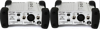 (2) New Behringer Ultra-DI DI100 Direct Box Buy It Now Make Offer Auth Dealer • 72.02£