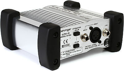 New Behringer Ultra-DI DI100 Active Direct Box Buy It Now Make Offer Auth Dealer • 28.80£