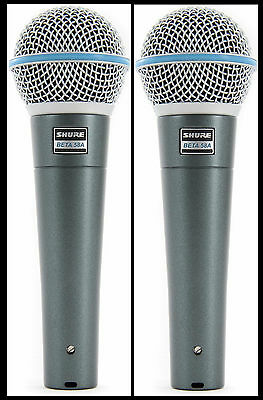 (2) New Shure BETA 58A Vocal Mics Authorised Dealer Make Offer Buy It Now! • 230.10£