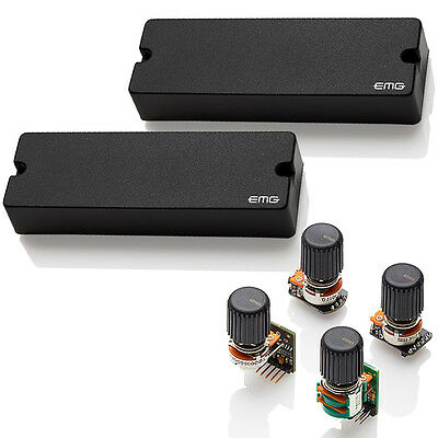 EMG 45DC Active Dual Coil 6-String Bass Pickup Set & BTS Tone Control System • 248.19£