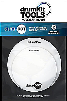 Aquarian Dura-Dot Reusable Tone Modifier For Snare And Tom Drumheads • 6.63£