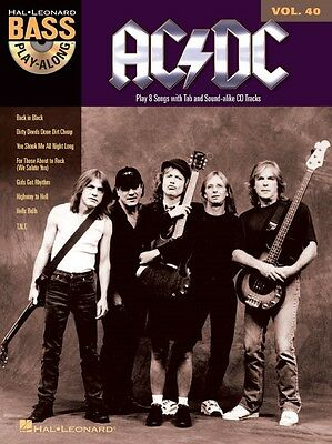 Ac/dc Play-along Bass Tab Sheet Music Song Book W/audio • 11.95£
