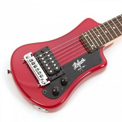New Hofner Shorty  Electric Guitar In Red With Gigbag Case Hct-sh-r • 121.73£