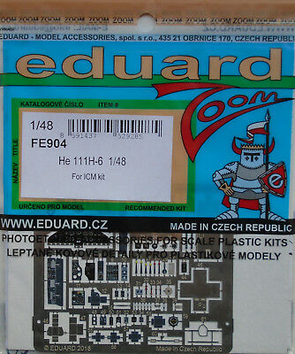 Eduard 1/48 FE904 Colour Zoom Etch For The ICM Heinkel He111H-6 Kit • 13.04£
