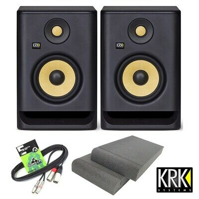 KRK Rokit RP5 G4 Active DJ Studio Monitor Speakers With Isolation Pads & Cable • 329£