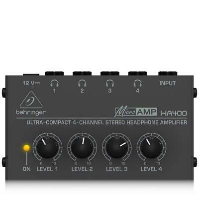 Behringer HA400 Microamp 4 Channel Stereo Headphone Amplifier BRAND NEW FREE P&P • 22.12£