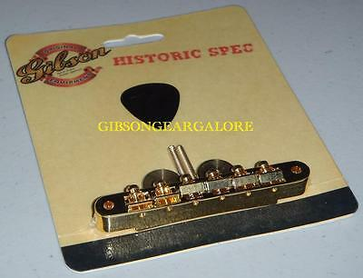 Gibson Les Paul Bridge Historic ABR-1 Tune-o-matic Gold Guitar Parts R9 Custom T • 117.03£